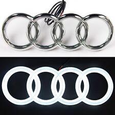 Audi A1 A3 A4 A5 A6 A7 Q3 Q5 Q7 Chrome LED Light Front Grill Emblem Logo Badge