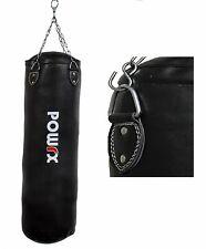 Boxsack Gefüllt Kunstleder Schwarz 100 x 33 cm oder 120 x 33 cm