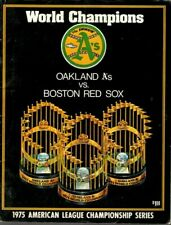 1975 ALCS Baseball Program Boston Red Sox @ Oakland A's, unscored ~ Fair