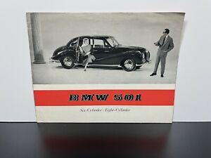 Vintage Original 1955 BMW 501 European Automobile Car Sales BROCHURE Catalog Ad