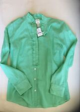 J CREW NWT SILK BUTTON-UP CAREER PERFECT SHIRT BLOUSE TOP - 6