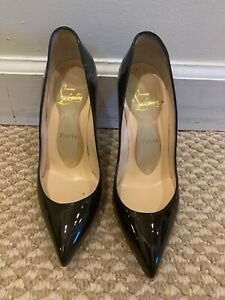 Pre-owned Christian Louboutin Pigalle Follies 100 Patent Leather Pumps Size 37.5