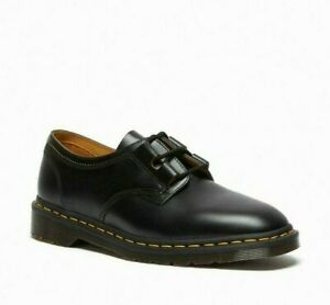 Comme des Garcons & Dr Martens 1461 Ghillie Made In England Black Leather Shoes
