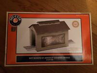 Lionel 37130 Boy Scout of America Lighted Covered Bridge New in Box!