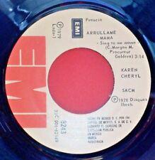 "KAREN CHERYL 45 TOURS MEXIQUE ""ARRULLAME MAMA (SING TO ME MAMA)"" 1979"