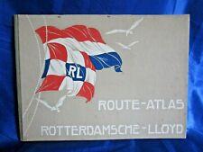 Route - Atlas Rotterdamsche - Lloyd. 1929.  Passenger Log Book & Voyage Record