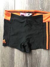 Adidas Swim Shorts Size 11-12 Years Boys Black & Orange