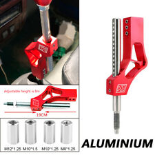 Aluminium Adjustable Height Lever Extension For Shift Knob Red w/ Adapter Trim