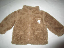 Baby boys Pumpkin Patch 3-6 mths furry brown jacket  with zip size 00