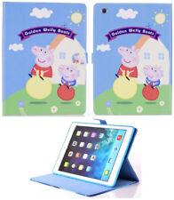 For iPad Mini 1 2 3 4 5 Peppa Pig Cartoon Children New Smart Stand Case Cover +