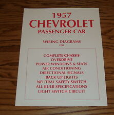 1957 Chevrolet Passenger Car Wiring Diagrams for Complete Chassis 57 Chevy