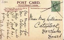 Family History Postcard - Williams - Dorchester - Dorset - Ref 2178A
