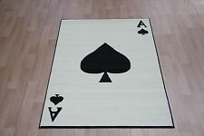 Ace Of Spades Cards Rug 150cm x 100cm Novelty Pattern Rug