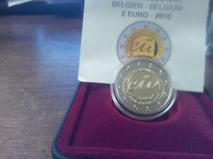 BELGIQUE Coffret - 2 euro commémorative 2010 - BE (PROOF) Présidence de l'UE
