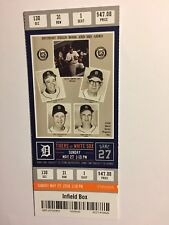 DETROIT TIGERS VS CHICAGO WHITE SOX  MAY 27, 2018 TICKET STUB
