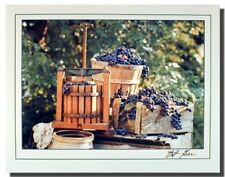 Vineyard Grape Wine Country Home Wall Decor Art Print Picture (16x20)