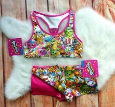 NWT Handcraft Girls' Shopkins 3pc Set Girl Bra & 2pk Boy Shorts size  L 10-12