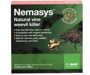 Nemasys Vine Weevil Killer 100sqm nematodes grubs roots safe organic Non harmful