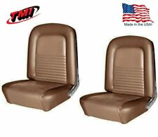 1968 Mustang Front Bucket Seat Upholstery- Saddle - Made by TMI - IN STOCK!!
