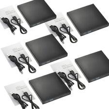 Lot External Usb 2.0 Dvd Drive Cd Rw Writer Burner Reader Player For Pc Laptop