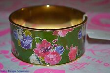 Kate Spade New York Paper Bangle Bracelet Spring Blooms Collection Green NWT $68