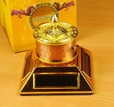 Solar or Battery Prayer Wheel Feng Shui Mount on Desk or Car Tibetan Buddhiat