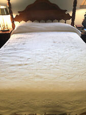 Cream Off White Ivory Matelasse Coverlet Bed Cover 72x92 Twin/Full