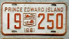 PRINCE EDWARD ISLAND License Plate Tag 1961 PEI - Low Shipping