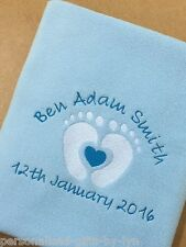 PERSONALISED BABY BLANKET Baby Feet Design