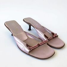 Vintage Prada Kitten Heels Pink and Brown Women's EUR37 UK4.5 US5.5