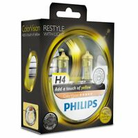 Philips ColorVision Yellow H4 Car Headlight Bulb 12342CVPYS2 (Twin)