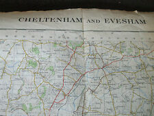 CHELTENHAM & EVESHAM ORDNANCE SURVEY MAP 1962 LARGE VINTAGE ONE INCH TO ONE MILE