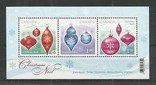 CANADA 2010 CHRISTMAS 2ND ISSUE MINISHEET SG,MS2701 UM/M NH LOT 4200A