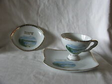 Souvenir Teacup Tennis Set With Extra Pin Dish Plate Greenmount Beach Queensland
