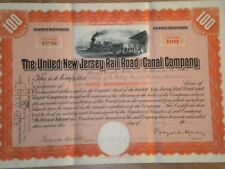 The United New Jersey Rail Road and Canal  Company  1924  Free Shipping