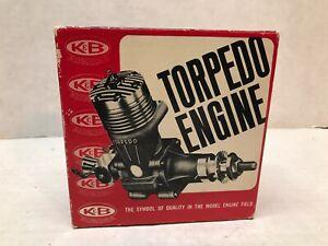 VINTAGE ORIGINAL AURORA K&B STALLION 35 TORPEDO GAS POWERED ENGINE WITH EXTRAS