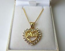 Yellow Gold Plated CZ Costume Necklaces & Pendants