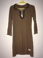 Odd Molly Great Day Short Dress Knitted Dress Dark Oatmeal Size 1 10 BNWT