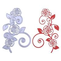 DIY Flower Rose Vine Cutting Dies Stencils Scrapbook Embossing Craft Album Card