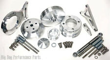 1979-93 FORD MUSTANG 5.0  SERPENTINE PULLEY SET - POLISHED BILLET ALUMINUM
