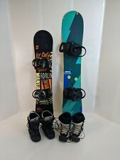 Kids & Adult Used Snowboard Packages, Board, Bindings, and Boots. Fit to order.