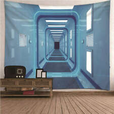 Beautiful blue space 3D Wall Hang Cloth Tapestry Fabric Decorations Decor