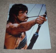 RARE SYLVESTER STALLONE RAMBO MOVIE ARCHERY 8 X 10 PRESS PHOTO 1985 HOYT BOW
