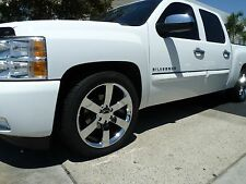 "4) 20"" Chrome SS Style Chevy GMC 1500 Sierra Silverado Pickup Wheels Rims Set"