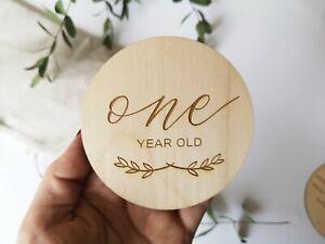 Wooden Milestone Circles Milestone Baby Cards Baby Shower Gift, Photo Prop, MC1