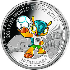 Brazil 2014 Fifa World Cup MASCOT FULECO silver coin proof licensed
