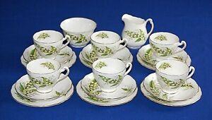 Vintage Colclough 20 Piece Lily of The Valley Tea Set. 1st Quality.
