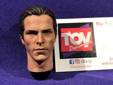 Hot Toys DARK KNIGHT RISES DX12 Batman 1/6 Bruce Wayne Face Head Christian Bale