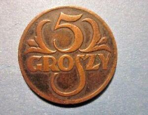 Poland 5 Groszy 1928 Y-10a