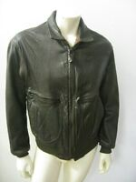 Vintage AVIREX G-2 Brown Leather Flight Jacket USA MADE Size 42